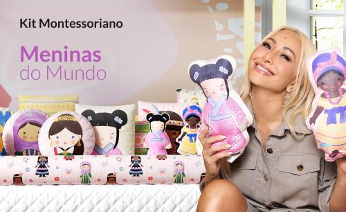 Kit Montessoriano Meninas do Mundo