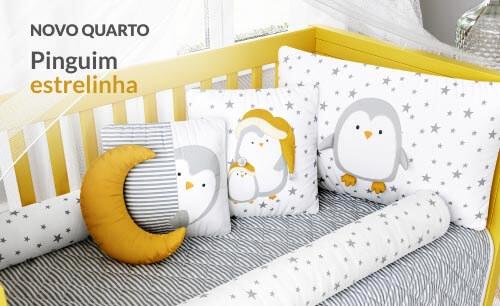 Kit Berço Pinguim Estrelinha