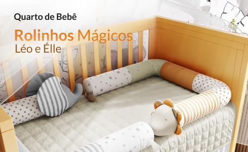 Quarto de Bebê Rolinhos Mágicos Léo e Élle