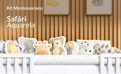Kit Cama Montessoriano Safári Aquarela