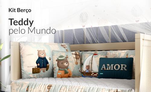 Kit Berço Teddy Pelo Mundo