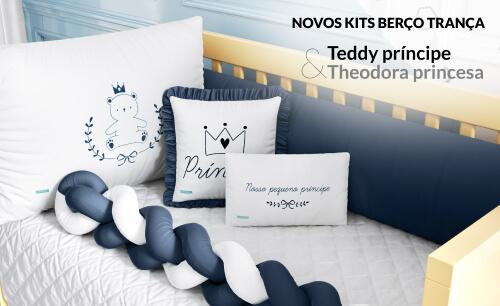 Kits Berço Trança Teddy Príncipe e Theodora Princesa