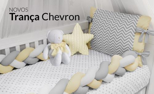 Quarto de bebê Trança Chevron Amarelo