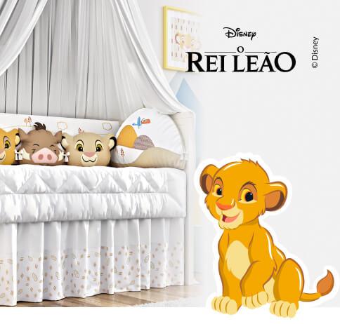 Kit berço amiguinhos o rei leão