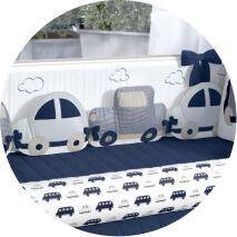 Kit berço carrinho, trem e avião