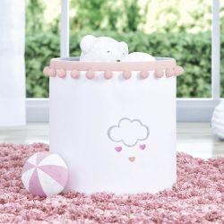 Cesto Organizador para Brinquedos Pompom Chuva de Amor 28cm