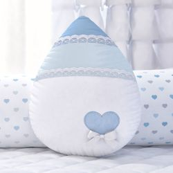 Almofada Gotinha Chuva de Amor Azul 30cm