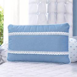 Almofada Rendinha Azul 43cm