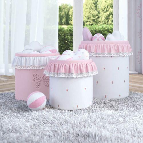 Cestos Organizadores para Brinquedos Princesa Clássica