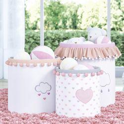 Cestos Organizadores para Brinquedos Chuva de Amor