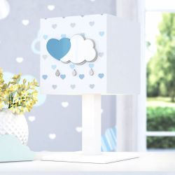 Abajur MDF Chuva de Amor Azul
