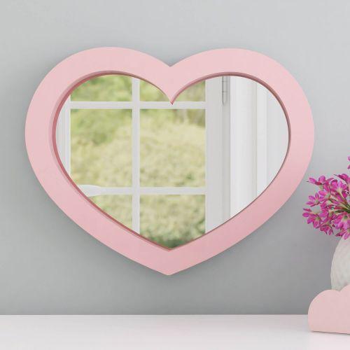 Espelho Coração Rosa 38cm
