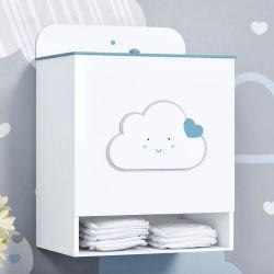 Porta Fraldas MDF Nuvem Coração Azul