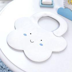 Babador Formato Nuvem Azul