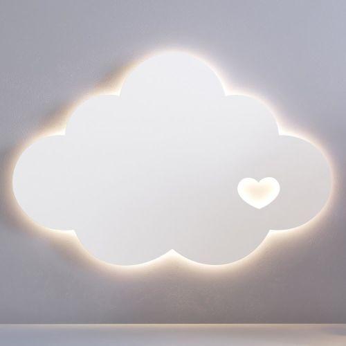 Luminária de Parede Nuvem Coração 30cm
