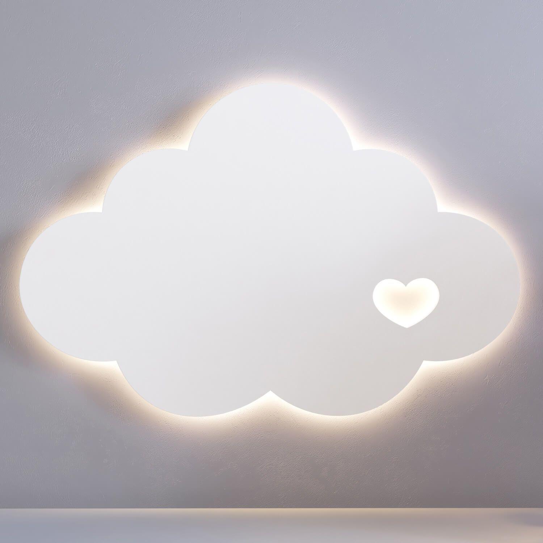 Lumin Ria De Parede Nuvem Cora O 30cm Gr O De Gente