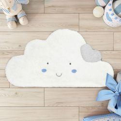 Tapete Nuvem Coração 90cm Azul