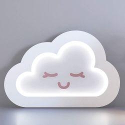 Luminária de Mesa Nuvem Rosa 30cm