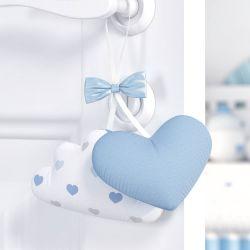 Enfeite para Puxador Nuvem e Coração Azul
