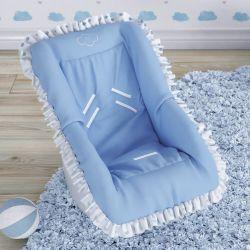 Capa para Bebê Conforto Corações Azul