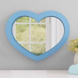 Espelho Coração Azul 38cm