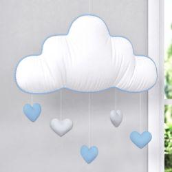 Móbile Nuvem Chuva de Amor Azul