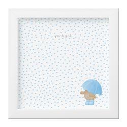 Quadro Chuva de Amor Azul