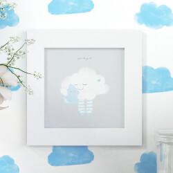 Quadro Nuvem e Gotinha Azul 20cm