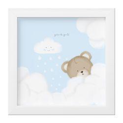 Quadro Ursinha nas Nuvens Azul