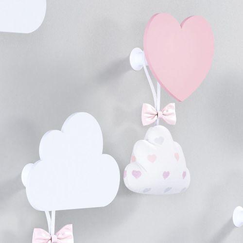 Cabideiros de Parede Coração e Nuvem