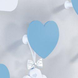 Cabideiro de Parede Coração Azul