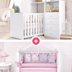 Quarto de Bebê Clean + Kit Berço Amiguinhas