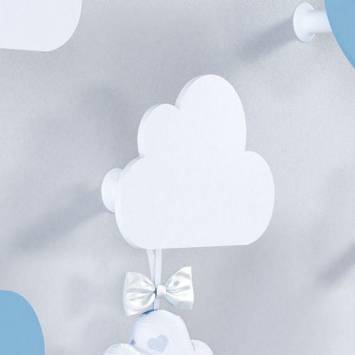 Cabideiro de Parede Nuvem Azul