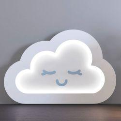 Luminária de Mesa Nuvem Azul 30cm