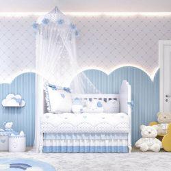 Quarto de Bebê Chuva de Amor Azul