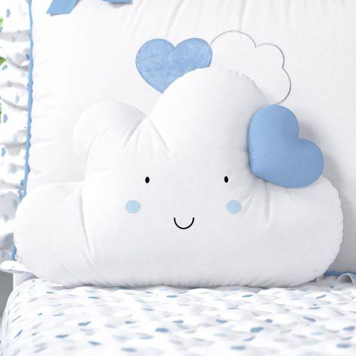 Almofada Nuvem Coração Azul 42m