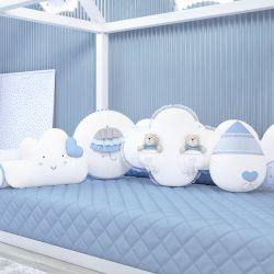 Almofadas Chuva de Amor Azul 4 Peças