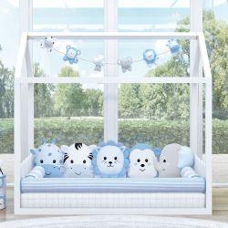 Quarto de Bebê Montessoriano Amiguinhos Safári Azul