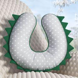 Almofada Amamentação Verde/Cinza Poá