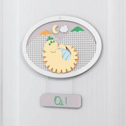 Porta Maternidade Personalizado Amiguinho Dino Lelo