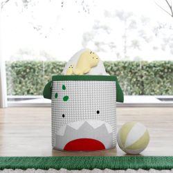Cesto Organizador para Brinquedos Amiguinho Dino 24cm