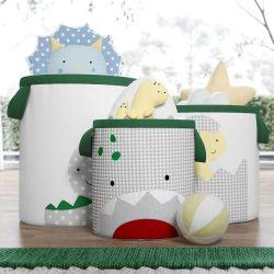 Cestos Organizadores para Brinquedos Amiguinhos Dino