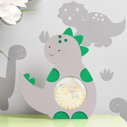 Porta Retrato MDF Amiguinho Dino Dudu 9cm
