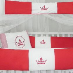 Kit Berço Coroa Vermelho