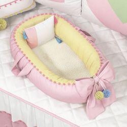 Ninho para Bebê Redutor de Berço Pompom e Pelúcia