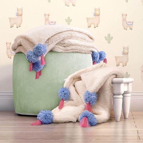 Cobertor Pelúcia com Tassel