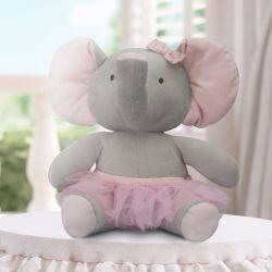 Bichinho de Pelúcia Elefante com Saia de Tule 45cm