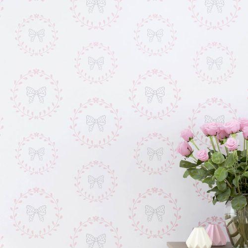 Papel de Parede Lacinhos Princesa Clássica 3m