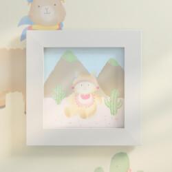 Quadro Amiguinha Lhama nas Montanhas 20cm