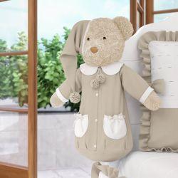 Porta Fraldas Urso Teddy Realeza Bege 60cm